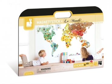 Magneti'Stick - Magnetli Dekoratif Duvar Sticker - World
